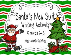 Santa's New Suit Writing Activity Freebie - Opinion or persuasive writing!