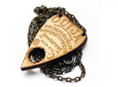 Handmade Laser Cut Jewelry - Wooden Ouija Planchette Necklace