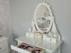 Ikea Hemnes Dressing Table - Will definitely be purchasing this and some fairy lights to add a bit of flare!