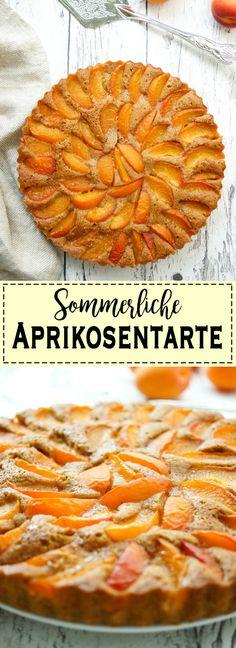 Ein einfaches Rezept für eine leckere sommerliche Aprikosentarte mit frischen, saisonalen Aprikosen aus Italien. Zart, feucht und süß in einem. Wie ein richtiges Sommergefühl! Mit Buttermilch, Zimt, Zitrone, Kardamom un Vollkorn Dinkelmehl. Gesunde Rezepte - Elle Republic