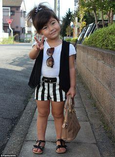Mini fashionista - quanta fofura! #kidsfashion #modainfantil
