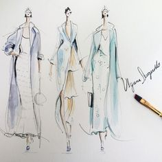 "Jeanette Getrost on Instagram: ""Sketching some of my favorite looks from @ulyanasergeenko's #fall15 #couture collection"""