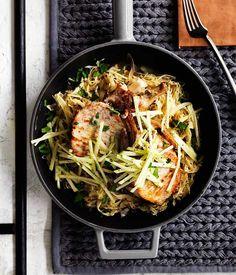 Pork with cabbage, apple and mustard : : Australian Gourmet Traveller