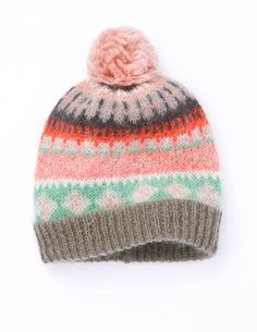 Fair Isle Hat AD177 Hats, Scarves & Gloves at Boden