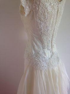 HOUSE OF BIANCHI VINTAGE WEDDING DRESS 60s/70's W MATCHING TULLE VEIL | eBay