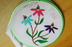 Hand Embroidery Designs # 118-Woven Picot stitch Design