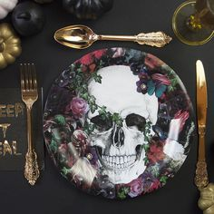 Baroque Skeleton Plates | Talking Tables