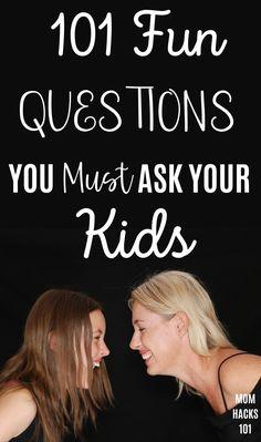 Fun Questions For Kids, Funny Questions, Parenting Advice, Kids And Parenting, Raising Kids, Raising Daughters, Toddler Activities, Grandkids, Grandchildren