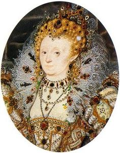 A miniature of Queen Elizabeth I from the latter half of her reign. By Nicholas Hilliard.