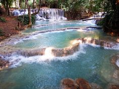 10 things to do in Luang Prabang Laos, one of the best is Kouang Si Waterfall