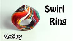 How to make a Swirl Ring - Polymer clay tutorial - YouTube