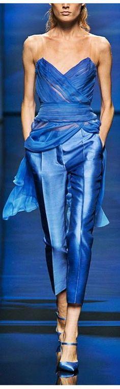 Elegant kobalt blue outfit for the summer...