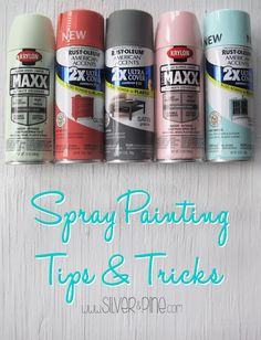 There are some great spray painting tips in this article.