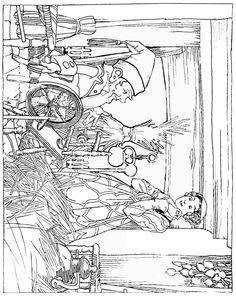 *Story Time* Rumpelstiltskin Fairy Tale Coloring Page. Verhaaltjes en Kleur Tijd...Het Sprookje van Repelsteeltje :-D
