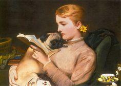 Charles Burton Barber: Girl with Pug