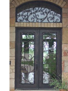 This door would be great leading to the patio slash pool area. Entrance Foyer, Entry Doors, Cedar Shutters, Flagstone Walkway, Outdoor Buildings, Home Id, Double Front Doors, Earthship, Front Entrances