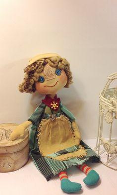 Rag doll-Cloth art doll-Art doll-Doll by NatashaArtDolls on Etsy