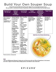 Build your own soup Epicure Recipes, Soup Recipes, Healthy Recipes, 30 Minute Meals, Quick Meals, Epicure Steamer, Clean Eating, Healthy Eating, Steamer Recipes