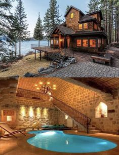 Ok.  I'll take it.... so amazing... Beautiful Homes, House Beautiful, Woodworking Bench For Sale, Custom Woodworking, Woodworking Plans, Log Cabin Homes, Log Cabins, Villa, Haus Am See