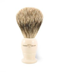 Edwin Jagger Best Badger Medium Shaving Brush with Ivory Color
