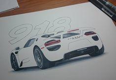 The 918 is half made! tomorrow will be complete! La 918 è a metà domani sarà finita! #car #cars #supercar #design #sketch #copic #markers #design #industrialdesign #giotto #crayola #freefollow #following #followdraw #followme #draw #drawing #sketch #arte #art #porsche #918 #spyder #hybrid #sketching #million #houseofelites #dream #drawtodrive by andre_gala