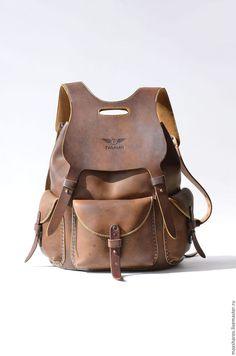 Женские сумки ручной работы. Кожаный рюкзак ручной работы