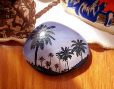natural stone Hand painted stones pebbles natural by Bloobling, $15.00