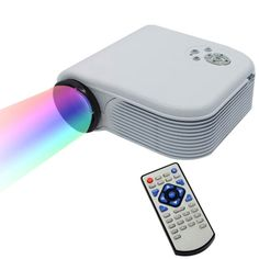 [$56.80] H88 Full HD 1080P Home Theater Mini Projector for Video Games TV Movie, Support Double HDMI / VGA / AV / Double USB(White)