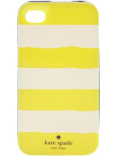 yellow rugby iPhone 4 case // kate spade - thinking of getting this as my other polka dot KS case broke. It definitely did the job though (many times over).