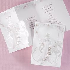 Wine Abundance of Grace Quinceanera Invitations The quinceañera is surrounded with gorgeous, wine and pearlized roses and images of her court of honor as she stands beside her horse and carriage