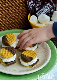 S'mores sliders - make my own GF mini waffles and presto. It said it was supposed to be for 'dessert' but waffles are a total breakfast food.