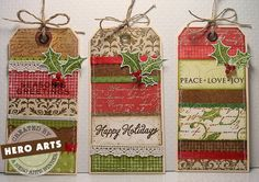 tags of stamped backgrounds