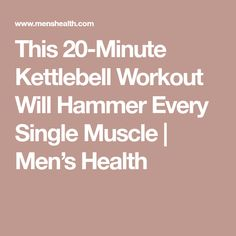 This 20-Minute Kettlebell Workout Will Hammer Every Single Muscle | Men's Health