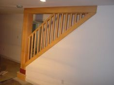 Basement stairways | new post, handrail, and part of the stairs were rebuilt toinstall a ...