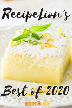 Check out which recipes were the most popular on our site in 2020! Lemon Magic Cake Recipe, Magic Cake Recipes, Dessert Recipes, 8x8 Cake Recipe, Lemon Desserts, Lemon Recipes, Just Desserts, Sweet Recipes, Fall Recipes