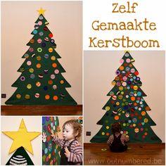 zelfgemaakte kindvriendelijke kerstboom