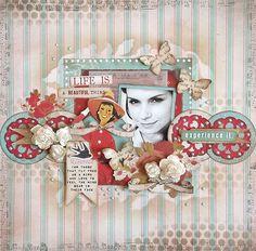 {Life is a beautiful thing} *Glitz Design* - Scrapbook.com (created by Karola Witczak) Wendy Schultz onto Scrapbook Art.