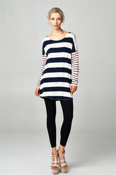 Long Sleeve Double Striped