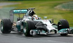 Mercedes driver Lewis Hamilton, Albert Park circuit during qualifying on pole for the Australian Grand Prix in Melbourne, 2014