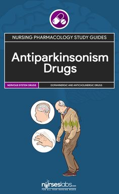 Antiparkinsonism Drugs Nursing Pharmacology Study Guide Antiparkinsonism agents are drugs used for management of signs and symptoms of Parkinson's disease, a progressive, chronic neurological disorder primarily characterized by lack of coordination. Over time, individuals with Parkinson's develop rigidity and weakness.