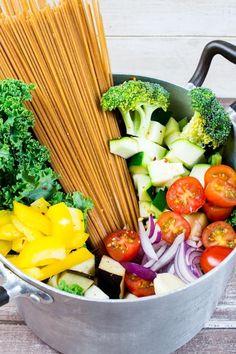Vegan One Pot Spaghetti with Vegetables