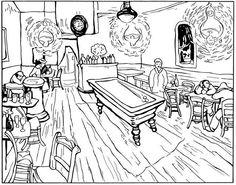Van Gogh, le café de nuit, 1888.