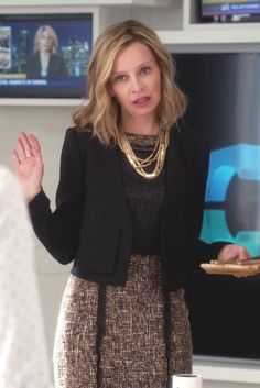 Cat Grant wearing  BCBGMAXAZRIA Pierre Double Layer Jacket