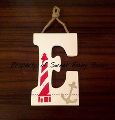 Sweet Baby Bean Nautical Nursery Letter