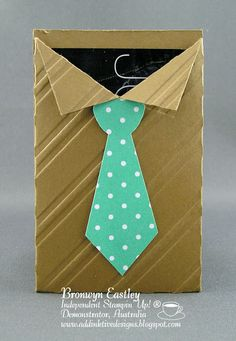 Awesome Masculine Shire & Tie Gift Card Holder...Bronwyn Eastlely: addINKtive designs.