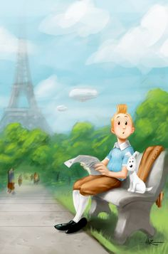 "La Tour - ""Tintin special Commission"" by Duckazoid"