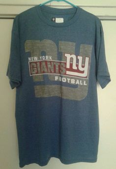 New York Giants NFL Team Apparel Blue 50/50 Football Shirt Large NEW #NewYorkGiants