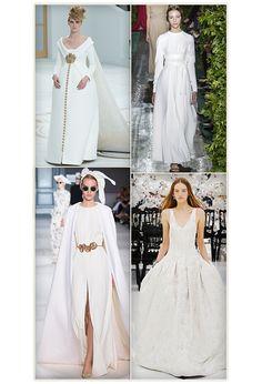 Les robes blanches de la haute couture http://www.vogue.fr/mariage/tendances/diaporama/les-robes-blanches-de-la-haute-couture/19558