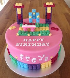 Lego Popstar theme birthday cake
