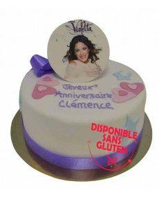 Gâteau d'anniversaire logo Violetta